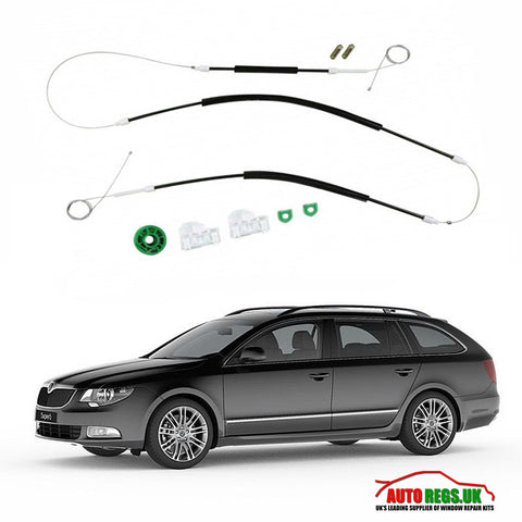 Skoda Superb B6 Electric Window Regulator Repair Kit 2009 - 2015