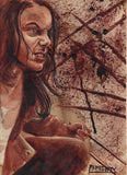 RYAN ALMIGHTY : ORIGINAL HUMAN BLOOD PAINTING : LAURA KINNEY from the film LOGAN