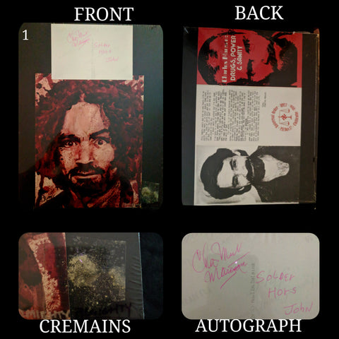 CHARLES MANSON cremains ash collector lot #1