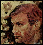 RYAN ALMIGHTY : ORIGINAL HUMAN BLOOD PAINTING :JEFFREY DAHMER PORTRAIT