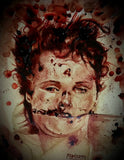 ELIZABETH SHORT/BLACK DAHLIA : portrait: post mortem, postcard 4x5