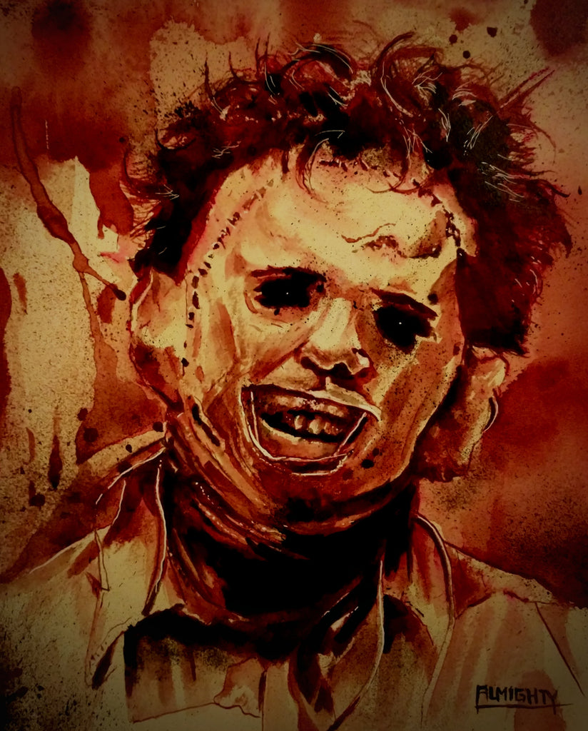 LEATHERFACE, Limited edition print (50) Signed/numbered (red)