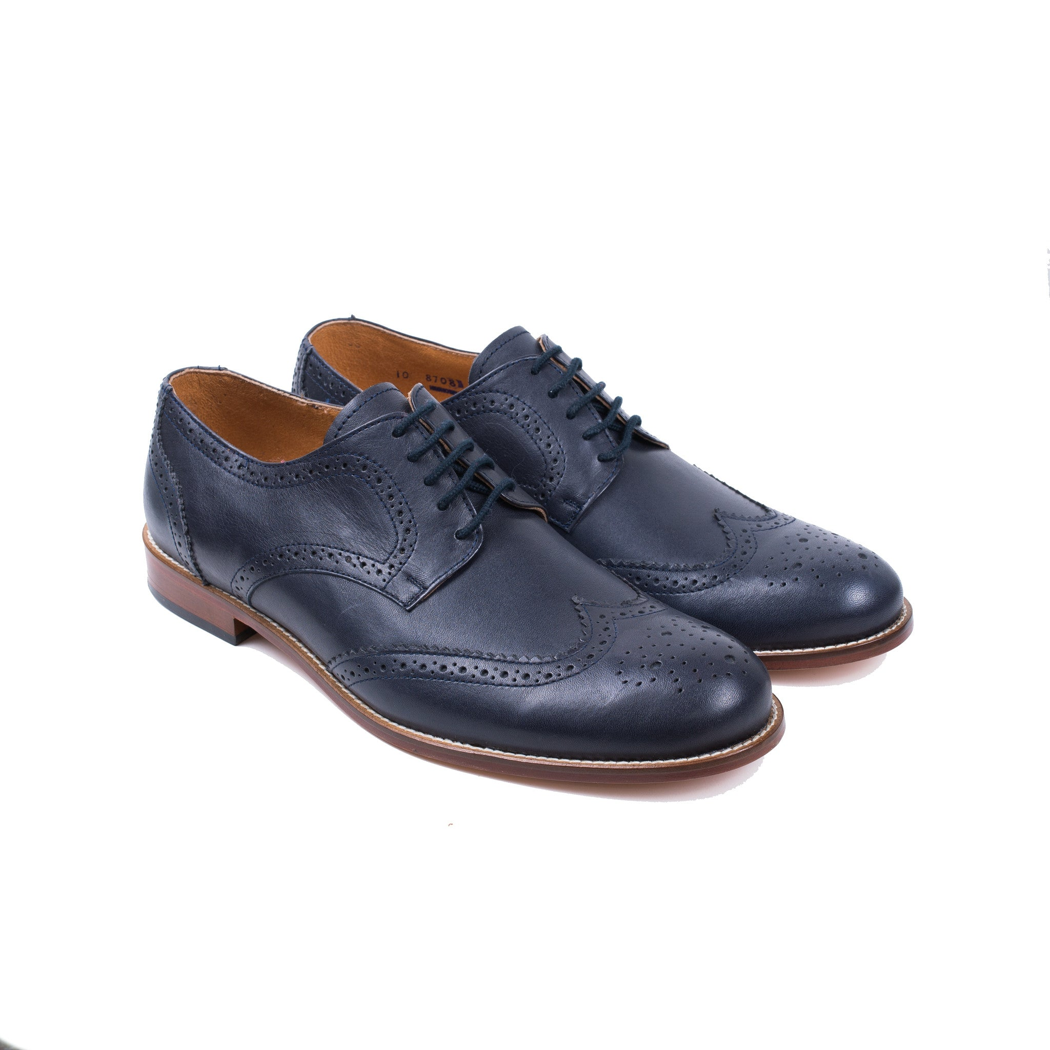 Wingtip Shoe in Navy