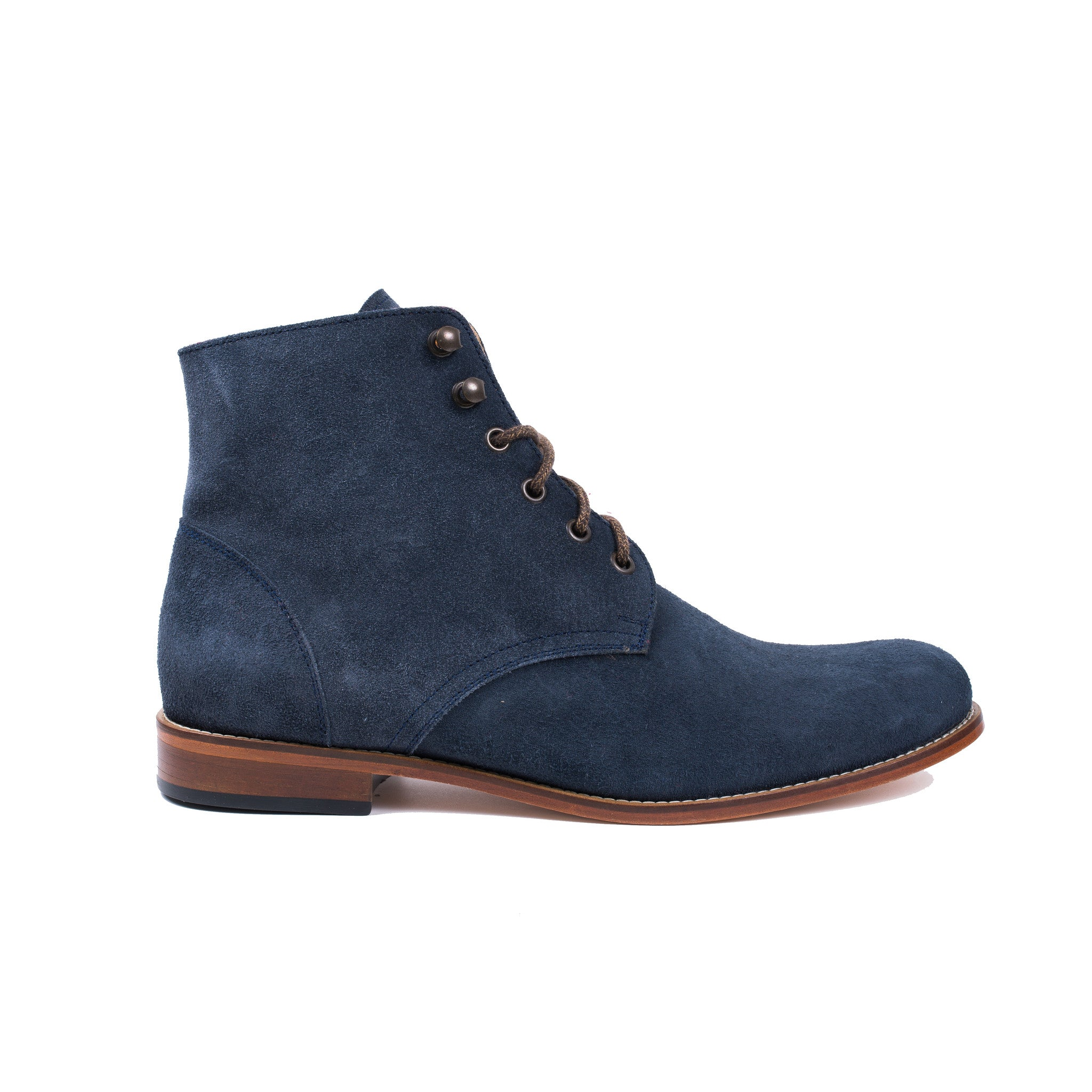 Trench Boot in Navy Suede