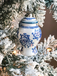 Blue + White Ginger Jar Ornament