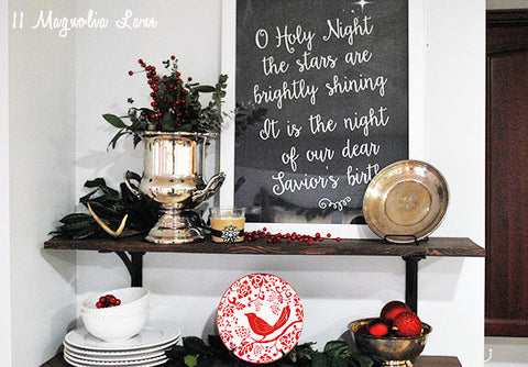 "Oh Holy Night 11x14"" and 8.5x11 Printable Poster"