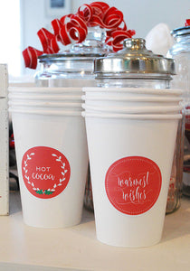 Printable Hot Chocolate or Coffee Sticker Labels