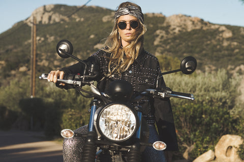 Girl on Motorcycle | motorcycle clothes