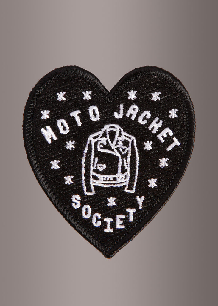 MOTO JACKET SOCIETY Heart Shaped Patch by Banana Bones
