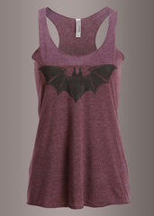 Purple Loose Fit Bat Tank Top