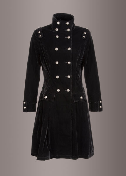 Witchy Woman Black Velvet Victorian Winter Coat