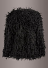 Bad Reputation Black Faux Fur Shaggy Jacket