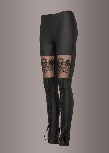 black skull leggings