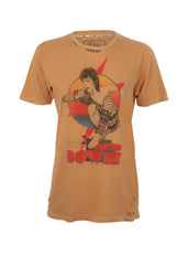 yellow david bowie band shirt