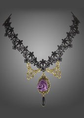 Purple Rose Choker