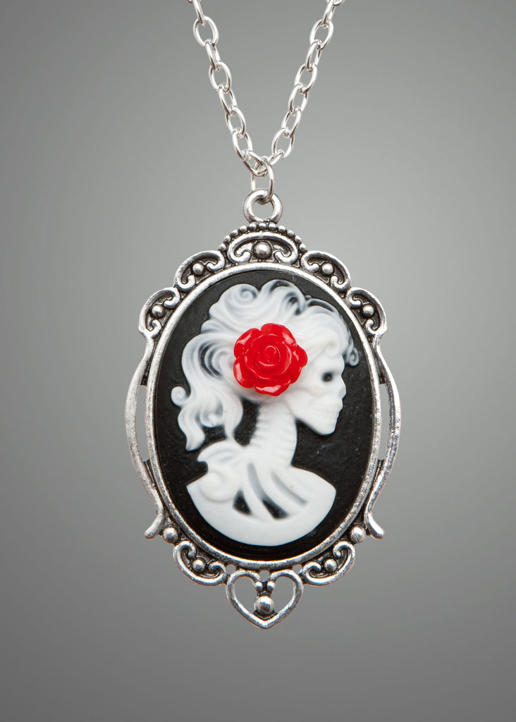 Love You To Death Cameo Necklace