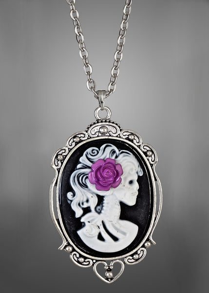 Purple Lolita Cameo Necklace
