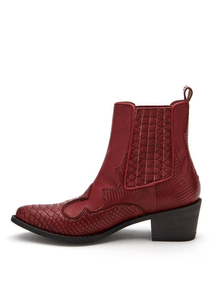 Matisse CAVALIER Red Western Cowboy Ankle Boots