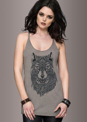 Bohemian Wolf Loose Fit Tank Top