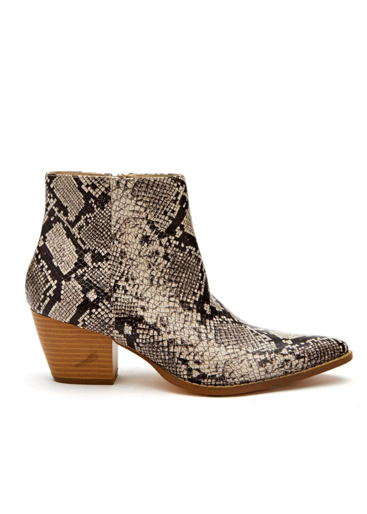 Matisse SPIRIT Snake Animal Print Ankle Boot