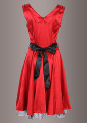 Glamorous Red 1950's Vintage Style Full Circle Dress