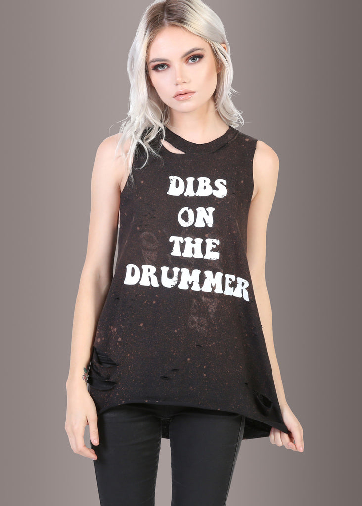Dibs on the drummer tee