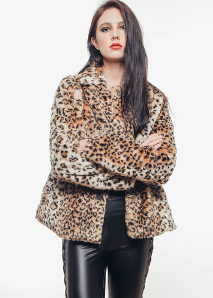 Wildcat Leopard Faux Fur Jacket