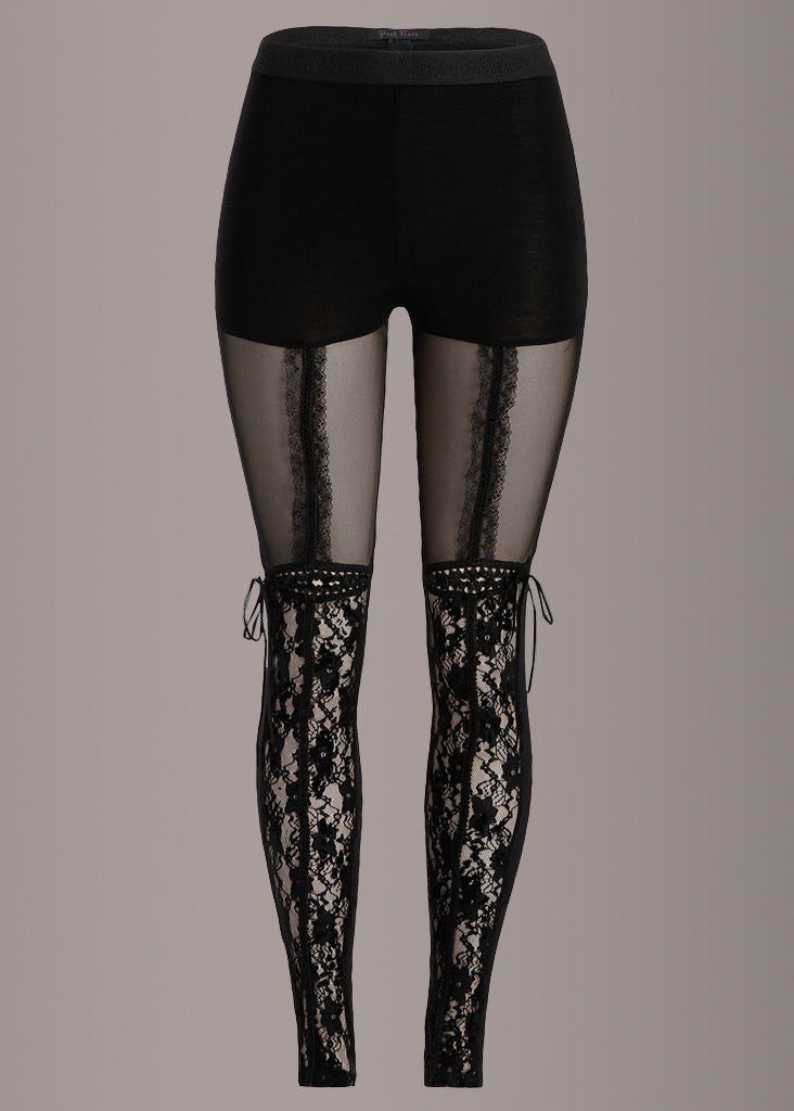 Punk Rave Victorian Lace Leggings