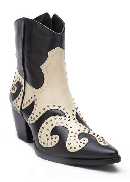 Matisse Could Be Black Studded Ankle Cowboy Boots