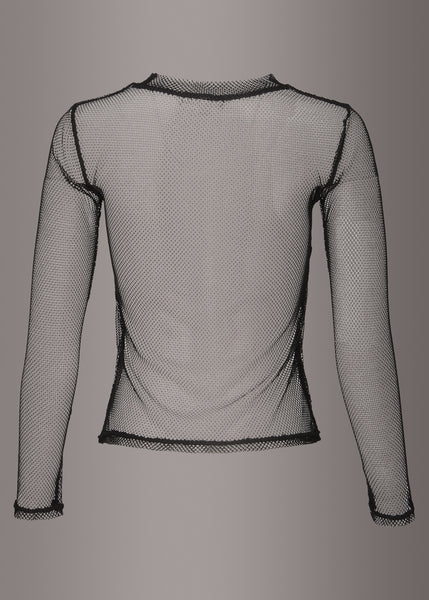 Fade to Black Fishnet Longsleeve Top