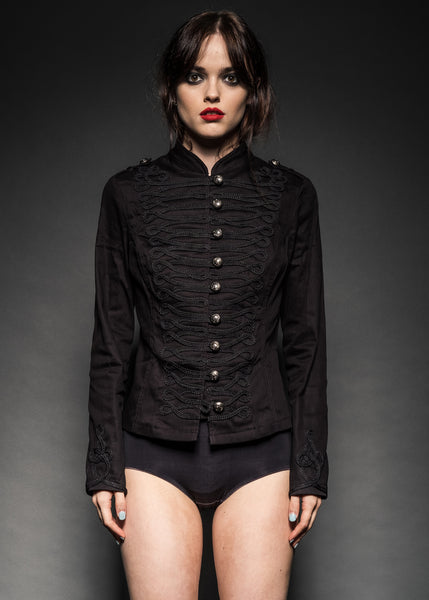 Black gothic jacket with buttons