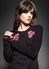 GO F!#CK YOURSELF Candy Hearts Knit Cardigan
