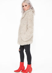 Plush faux fur shaggy jacket
