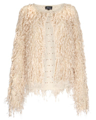 Who's That Girl Shaggy Fringe Cardigan