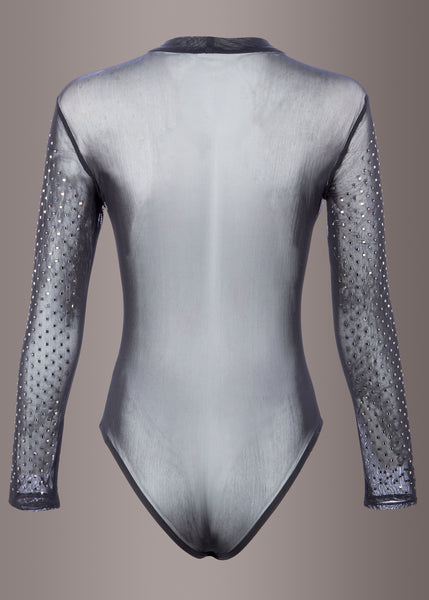 sheer long sleeve bodysuit
