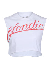 White Blondie band tee