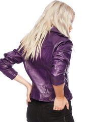 Purple Moto Jacket