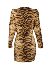 tiger blazer dress