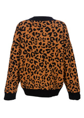 women's animal print cardigan