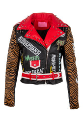 tiger print graffiti jacket