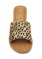 animal print leather sandal