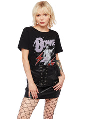black David Bowie shirt