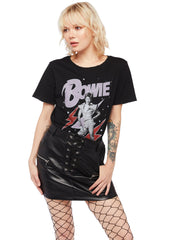black David Bowie tshirt