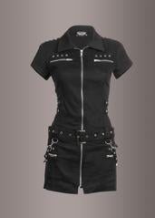 Black goth mini dress