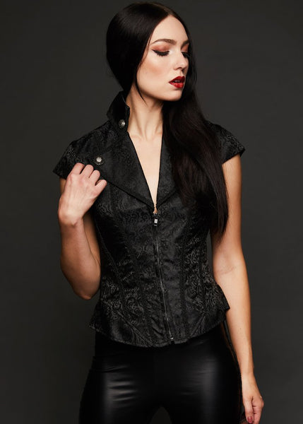 black brocade gothic shirt
