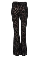 black burnout velvet bell bottoms