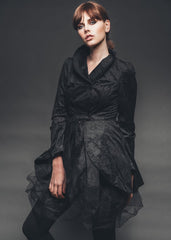 black jacket with tulle