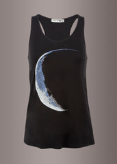 black crescent moon tank top