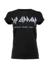 black def leppard band tee