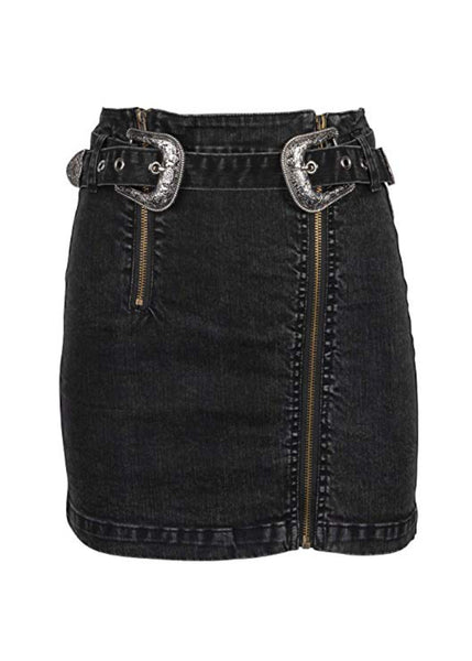black denim western skirt